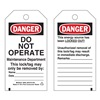 Brady 65503 Danger Tag, 5-1/2 x 3 In, Hd Polyest, PK25