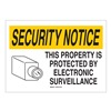 Brady 95494 Security Sign, 14 x 20In, BK and YEL/WHT