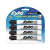 Sanford 83661 Marker, Dry Erase, Chisel, Black, PK4