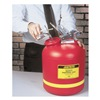 Justrite 14765 Disposal Can, 5 Gal., Red, Polyethylene