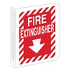 Brady 70998 Fire Extinguisher Sign, 12 x 9In, WHT/R