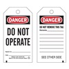 Brady 65367 Danger Tag, 5-3/4 x 3 In, Do Not Opr, PK25