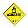 Brady 63449 Vehicle Placard, Oxidizer 5.1