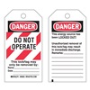 Brady 65520 Danger Tag, 5-1/2 x 3 In, Hd Polyest, PK25