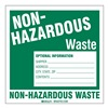 Brady 121159 Hazardous Waste Label, 6 In. H, PK 50