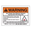 Brady 101950 Label, Arc Flash, Pk5