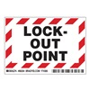 Brady 86204 Lockout Label, 3-1/2 In. H, 5 In. W, PK 5
