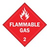 Brady 63442 Vehicle Placard, Flammable Gas