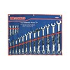 Westward 4PL91 Combination Wrench Set, Satin, 7-27mm, 17Pc