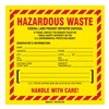 Brady 121155 Hazardous Waste Label, 6 In. H, PK 50