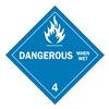 Brady 63448 Vehicle Placard, Dangerous When Wet