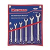 Westward 4YR26 Ratcheting Open EndSAE,  Combination Wrench Set Number of Pieces: 6,  Number of Points: 12