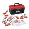 Master Lock 1457E410KA Portable Lockout Kit, Filled, Electrical, 24
