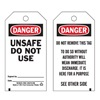 Brady 76221 Danger Tag, 5-3/4 x 3 In, Unsafe Dnu, PK25