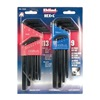 Eklind 10222 Black Combination Long Hex-L Key Set,  Alloy Steel,  SAE/Metric,  L-Shaped,  Number of Pieces: 22