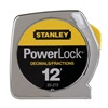 Stanley 33-272 Measuring Tape, 12Ft, Chrome, Decimal/In/Ft