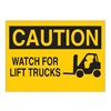 Brady 25906 Caution Sign, 10 x 14In, BK/YEL, ENG, SURF