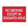 Brady 42702 No Smoking Sign, 7 x 10In, WHT/R, ENG, Text
