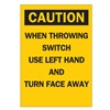 Brady 85911 Caution Sign, 5 x 3-1/2In, BK/YEL, ENG, Text