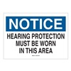 Brady 25491 Notice Sign, 10 x 14In, BL and BK/WHT, ENG