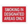 Brady 42721 Sign, 7X10, Smoking In Designated Areas
