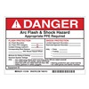 Brady 121094 Arc Flash Protection Label, 5 In. H, PK 5