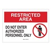 Brady 95468 Admittance Sign, 10 x 14In, BK and R/WHT