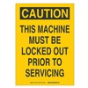 Brady 85890 Caution Security Sign, 5 x 3-1/2In, BK/YEL