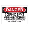 Brady 40994 Danger Sign, 10 x 14In, R and BK/WHT, AL