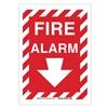 Brady 25708 Fire Alarm Sign, 14 x 10In, WHT/R, Fire ALM