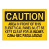 Brady 84827 Caution Sign, 7 x 10In, BK/YEL, ENG, Text