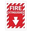 Brady 25717 Fire Extinguisher Sign, 14 x 10In, WHT/R