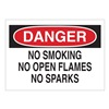 Brady 42660 Danger No Smoking Sign, 10 x 14In, AL, ENG
