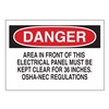 Brady 84859 Danger Sign, 7 x 10In, R and BK/WHT, ENG