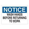 Brady 25149 Notice Sign, 7 x 10In, BL and BK/WHT, PLSTC