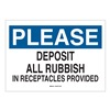Brady 42336 Notice Sign, 10 x 14In, BL and BK/WHT, AL