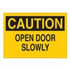 Brady 22516 Caution Sign, 10 x 14In, BK/YEL, ENG, Text
