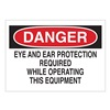 Brady 42497 Danger Sign, 10 x 14In, R and BK/WHT, ENG