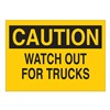 Brady 41283 Caution Sign, 7 x 10In, BK/YEL, ENG, Text