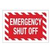 Brady 90372 Fire Emergency Sign, 7 x 10In, WHT/R, ENG