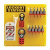 Brady 51188 Lockout Station, Filled, 13-1/2 In H