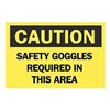 Brady 41160 Caution Sign, 7 x 10In, BK/YEL, ENG, Text