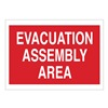 Brady 95505 Evacuation Area Sign, 14 x 20In, WHT/R, AL