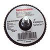 Westward 6NX60 Arbor Mount Flap Disc, 3in, 80, Medium