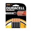 Duracell MN2400B4Z Battery, Alkaline, AAA, PK 4