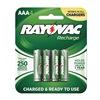 Rayovac LD724-40P Rechargeable Battery, 750mAh, AAA, PK 4