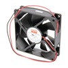 Dayton 6KD69 Axial Fan, 12VDC, 3-5/8In H, 3-5/8In W