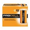 Duracell PC1400 Battery, Alkaline, C Size, PK12