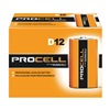 Duracell PC1300 Battery, Alkaline, D size, PK 12