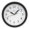 "Geneva/Advance Clock Co 8102 10"" BLK Plas Wall Clock"